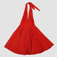 Front - Star big / small red marilyn dress