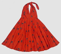 M cherry red marilyn dress