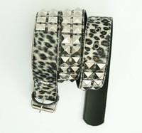 Leopard brown belt studs belt