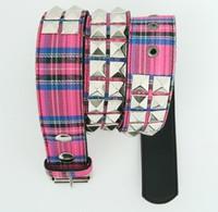 Scotch pink belt studs belt