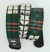 Scotch green belt studs belt