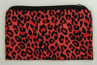 Leopard red P pencil bag bag