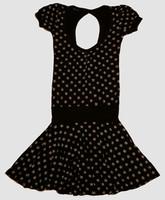 OIB 3D star black-white fashion dress
