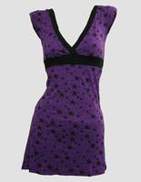 Stars purple fashion dress