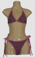 Check L pink bikini lady