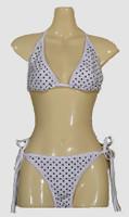 Dot white-black bikini lady
