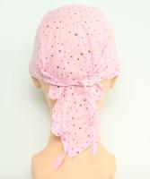 Plain L pink bandana headwear