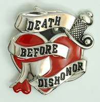 Death before dishonor big buckle