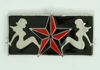 Ladies star big buckle