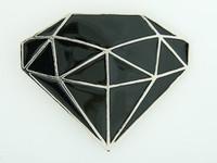 Diamond black big buckle