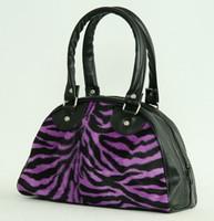 Zebra purple small bowling bag