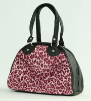 Leopard pink small bowling bag