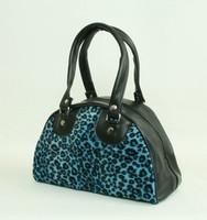 Leopard blue small bowling bag