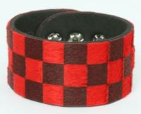 Check black-red F big stripes & checker