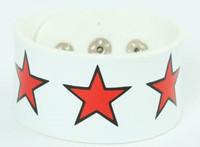 Star big white-red big stripes & checker