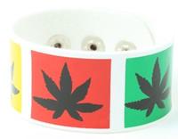 Marijuana white big stripes & checker