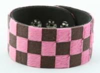 Check pink F big stripes & checker