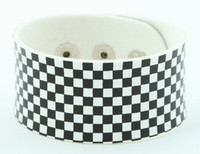 Check S black-white big stripes & checker