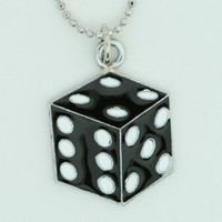 Dice PE black mix necklace