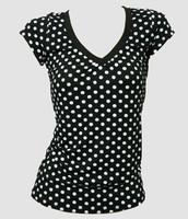 Front - Dot big black-white fashion