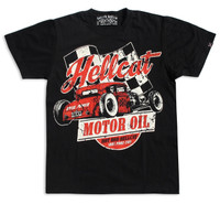 Vintage hotrod race inspired tee. Original print from HRHC
