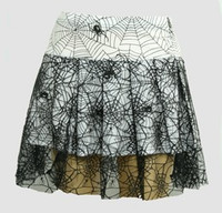 Spider white punk mini skirt