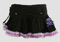 Ribbin purple punk mini skirt