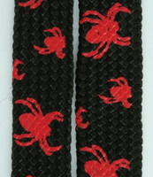 Spider black-red animal shoelace