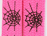 Spiderweb lines pink animal shoelace