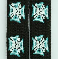 Herocross skull black-blue mix shoelace