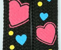 Heart color mix shoelace