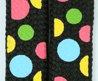 Dot color L mix shoelace
