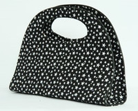 Star Bl-Wh cotton hand bowling bag