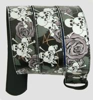 Skull rose black-grey skull belt