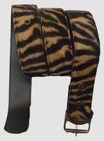 Zebra brown belt fluffy belt