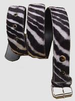 Zebra black-white belt fluffy belt