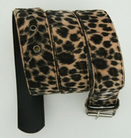 Leopard brown belt fluffy belt