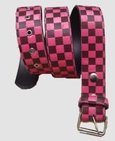 Check pink belt fluffy belt
