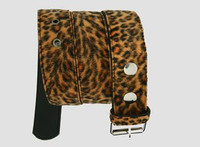 Leopard orange belt fluffy belt