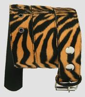 Zebra orange belt fluffy belt