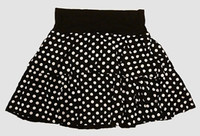 Dot L black-white cute & dangerous mini skirt