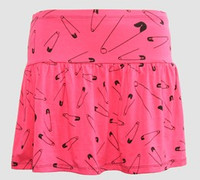 Safety pin pink cute & dangerous mini skirt