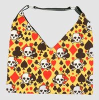 Skull new yellow V bag Bag