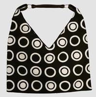 Double dot black V bag Bag