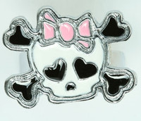 Cute Sk bone white-pink skull ring