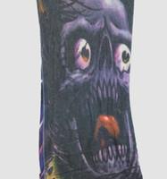 Skull purple fake tattoo sleeves accessory