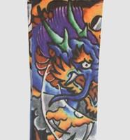 Dragon purple fake tattoo sleeves accessory