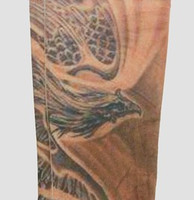 Phoenix skin fake tattoo sleeves accessory