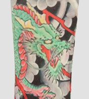 Dragon clouds fake tattoo sleeves accessory