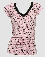 Star pink-black fashion t-shirt